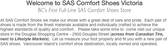 Welcome to SAS Comfort Shoes Victoria